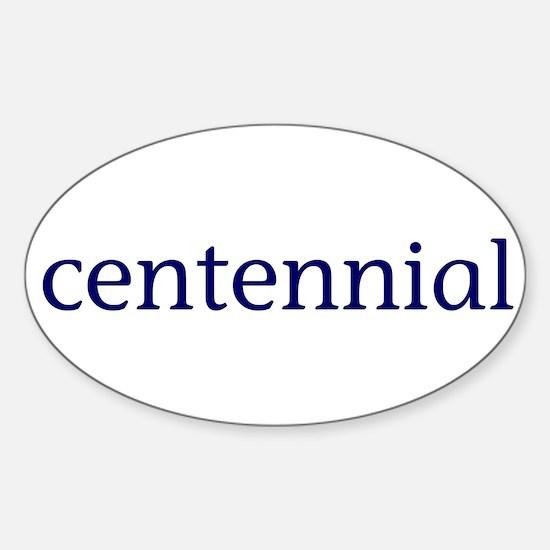 Centennial Sticker (Oval)