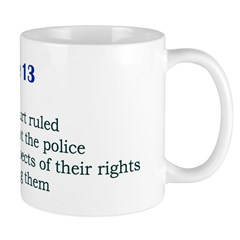 Mug: Supreme Court ruled today in 1966 that the po