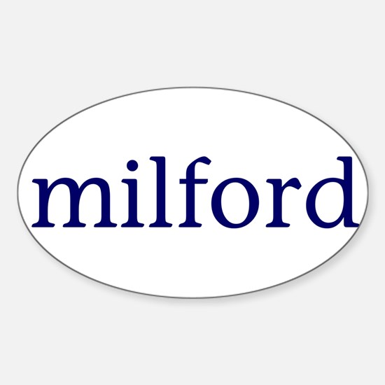 Milford Sticker (Oval)