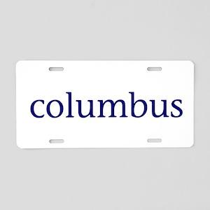 Columbus Aluminum License Plate