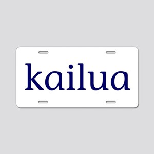 Kailua Aluminum License Plate