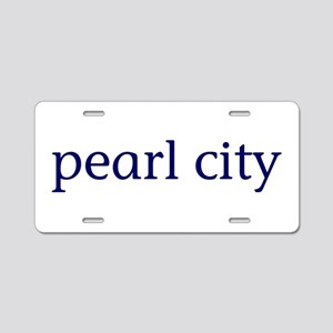 Pearl City Aluminum License Plate