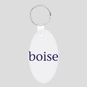 Boise Aluminum Oval Keychain