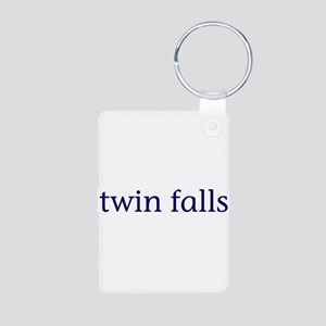 Twin Falls Aluminum Photo Keychain