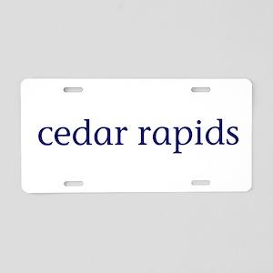 Cedar Rapids Aluminum License Plate