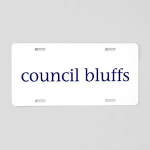 Council Bluffs Aluminum License Plate