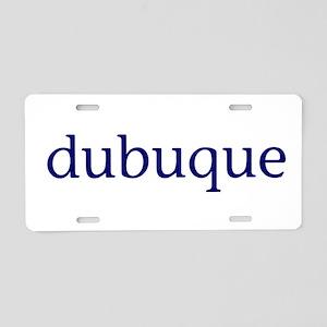 Dubuque Aluminum License Plate