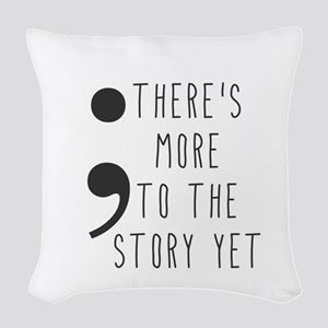 Semicolon- More to the Story Woven Throw Pillow