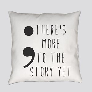 Semicolon- More to the Story Everyday Pillow