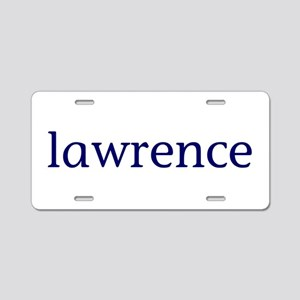 Lawrence Aluminum License Plate