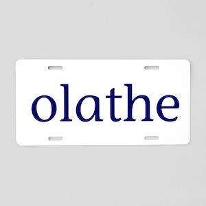 Olathe Aluminum License Plate