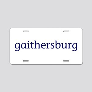 Gaithersburg Aluminum License Plate