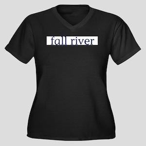 Fall River Women's Plus Size V-Neck Dark T-Shirt