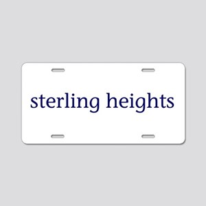 Sterling Heights Aluminum License Plate