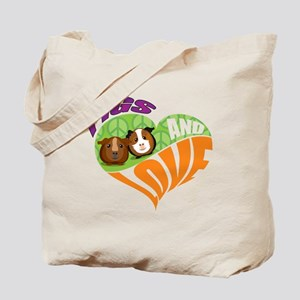 Pigs and Love Tote Bag