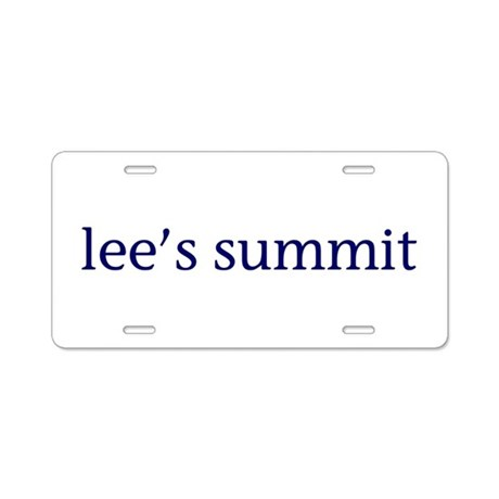 Lee's Summit Aluminum License Plate