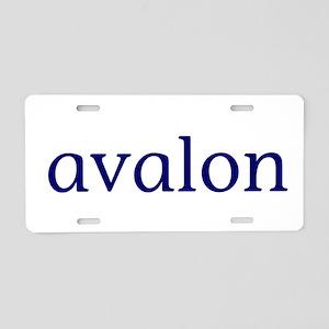 Avalon Aluminum License Plate