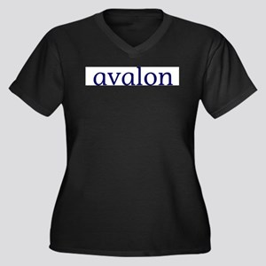 Avalon Women's Plus Size V-Neck Dark T-Shirt