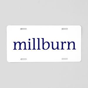 Millburn Aluminum License Plate