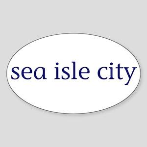 Sea Isle City Sticker (Oval)