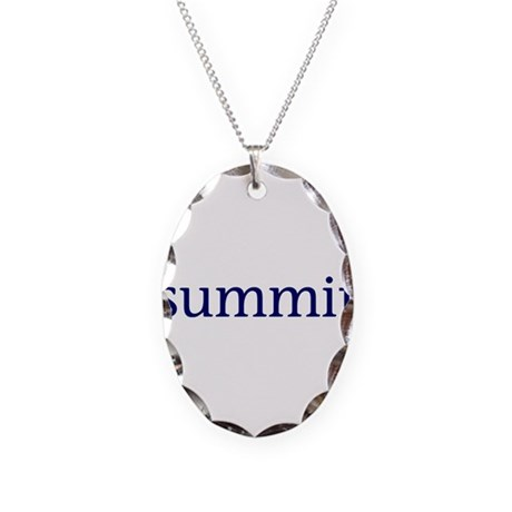 Summit Necklace Oval Charm
