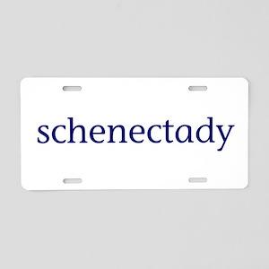 Schenectady Aluminum License Plate