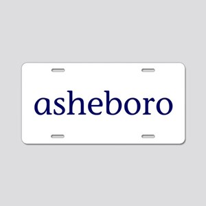 Asheboro Aluminum License Plate
