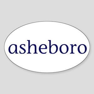 Asheboro Sticker (Oval)