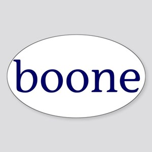 Boone Sticker (Oval)
