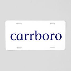 Carrboro Aluminum License Plate