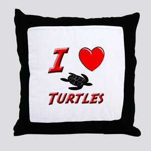 SEA TURTLE FACTS Throw Pillow