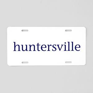 Huntersville Aluminum License Plate