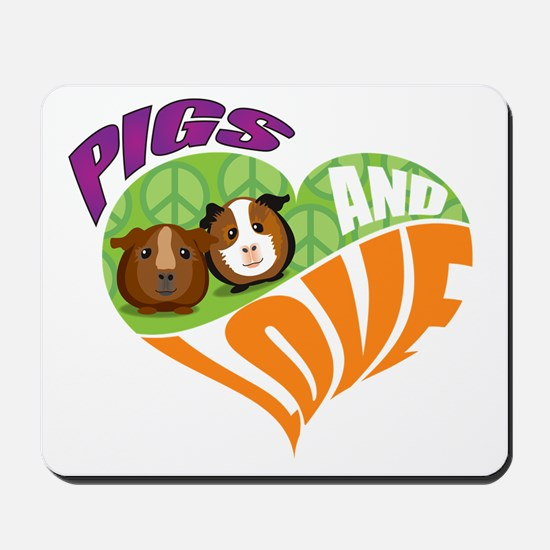 Pigs and Love Mousepad