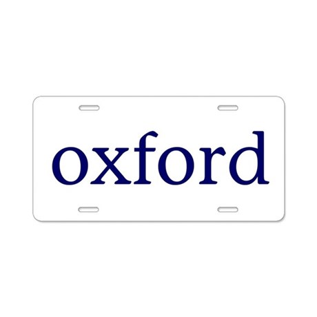 oxford aluminum license plate by simplelogogifts