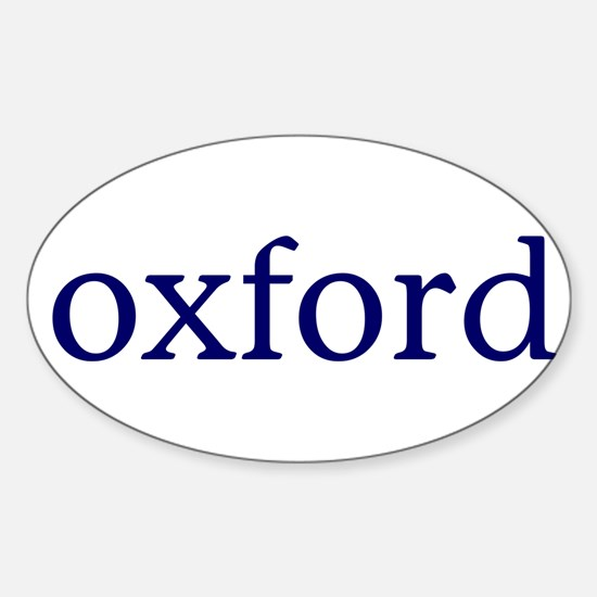 Oxford Sticker (Oval)