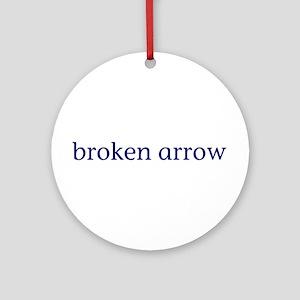 Broken Arrow Ornament (Round)