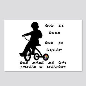 God Made Me Gay (Tricycle)  Postcards (Package of