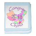 Cangwu China Map baby blanket