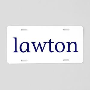Lawton Aluminum License Plate
