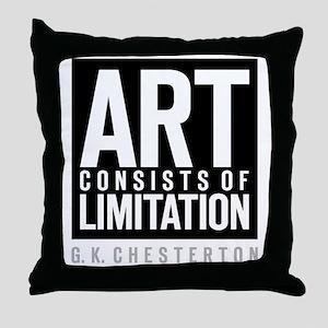 Art Limits Throw Pillow