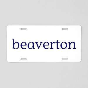 Beaverton Aluminum License Plate
