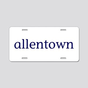 Allentown Aluminum License Plate