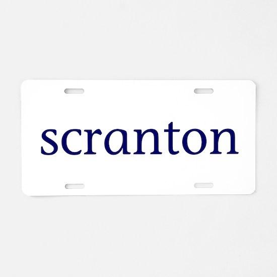 Scranton Aluminum License Plate