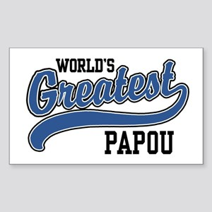 World's Greatest Papou Sticker (Rectangle)