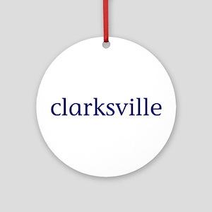 Clarksville Ornament (Round)