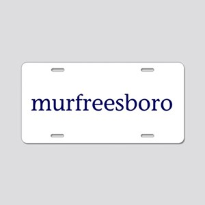 Murfreesboro Aluminum License Plate