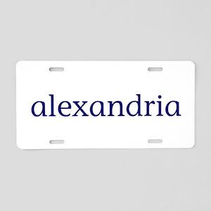 Alexandria Aluminum License Plate