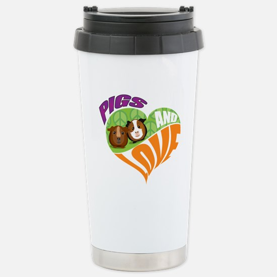 Pigs and Love Stainless Steel Travel Mug