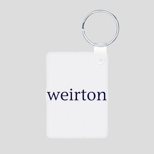 Weirton Aluminum Photo Keychain