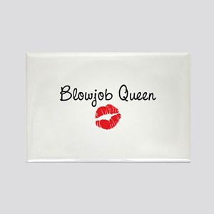 Blowjob Queen Rectangle Magnet